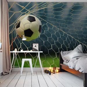 VLIES FOTOTAPETE Tapete Wandbilder XXL Sport Fußball Ball Netz Tor Stadion 1578