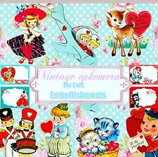 Kitsch Retro ephemera paper,Vintage Die Cut Embellishments,Scrapbook/Card making