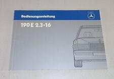 Betriebsanleitung / Handbuch Mercedes W201 190 E 2.3 16V Stand 03/1988