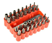 "New 33pc CRV Security Bit Set Steel Bits 2-1/2"" Magnetic Extension Torx Hex Star"