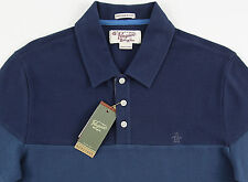 Men's PENGUIN Blue & Gray Polo Shirt XXL 2XL NWT NEW Heritage Slim Fit Nice!