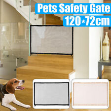 New listing Retractable Pet Dog Gate Safety Guard Net Folding Baby Stair Gate Isolation Mesh