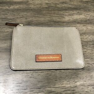 NWOT Dooney and Bourke Slim Leather Pouch One Zip Wallet Tan. FREE SHIPPING