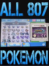 GENUINE POKEMON ULTRA MOON WITH ALL 807 SHINY POKEMON NINTENDO 3DS / 2DS SUN