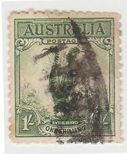 (PDX60) 1932 AU 1/- green lyre bird (D)