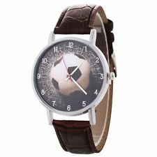 Football Wrist Watch Boy's Men Soccer PU Leather Band Children Gift Stocking