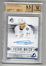 2014-15 SP AUTHENTIC FUTURE WATCH ROOKIE RC AUTO /999 JONATHAN DROUIN BGS 9.5