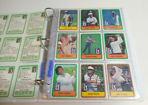 1981 & 1982 Donruss Golf Complete Sets Couples Jack Nicklaus RC In Pages Binder
