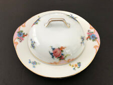 Epiag Czechoslovakia BRIDAL ROSE 5522, 6376 - ROUND COVERED BUTTER W/ STRAINER