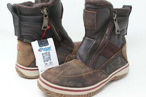PAJAR Women's Canada Brown Leather Winter Boot Size 8-8.5