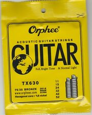 ORPHEE ACOUSTIC GUITAR STRINGS TX630 NORMAL LIGHT 75/25 BRONZE-FREE SHIPPING-