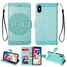 Card Holder Leather Flip Wallet Case Cover Stand Floral Skin For Samsung iPhone