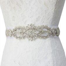 Wedding Rhinestone Bridal Sash Crystal Pearl Bridal Dress Beads Belt Accessories