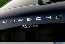 PORSCHE Macan Badges Metal Chrome Letters & Macan Insignia