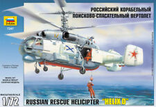 """Zvezda Model 7247 Russian Rescue Helicopter :HELIX D"""" Scale 1/72"""