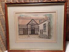 THe Maddermarket Norwich Theatre Vintage Framed Print of Water Colour Gwyn Jones