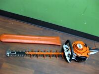 "Stihl (HS-56) Commercial Duty Gas Powered Hedge Trimmer 24"" Blade & Cover"
