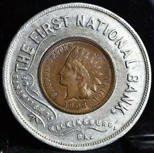 1908 Indian Cent Encased - The First National Bank Wilkinsburg Pa