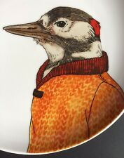 West Elm, Rachel Koslowski Dapper Animals Woodpecker Plate