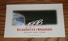 1998 Oldsmobile Silhouette / Bravada Interior Exterior Color & Trim Brochure 98