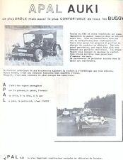 Apal auki Buggy VW Käfer basierendes französischen Text Verkauf Artikel