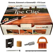 DECKWISE Extreme Ipe Clip175 Complete Kit Brown w/Black Screws **SPECIAL PRICE**
