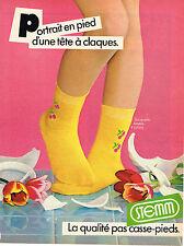 PUBLICITE ADVERTISING 104  1982  STEMM  chaussettes enfants filles