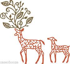 Cheery Lynn Designs Die ~ Deer In Forest - B484 - Christmas Reindeer - SALE