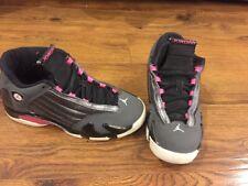 Nike Air Jordan 14 XIV GG Hyper Pink Gray Black 654969-028 Girls Basketball 4Y