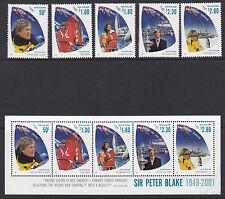 NEW ZEALAND :2009 Sir Peter Blake set + Min Sheet  SG3181-5+MS3186  MNH