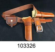 "El Paso Saddlery Co. 2 1/2"" Belt & 2 Holster Rig w/ Dennis A. Yoder Cuff Case"