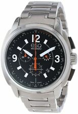 ESQ Movado Men's 07301415 Excel Steel Chrono Black Dial Watch