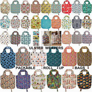 Ulster Weavers Packable Roll Up Re-usable Shopping Bags Loads of Designs Cat Dog