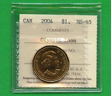 2004 Canada Olympic Loon Dollar Graded ICCS MS65 Certification # AR 125