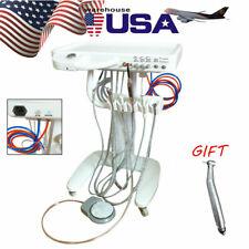 Dental Delivery Mobile Cart Unit Equipment 4-Hole Syringe W/ Free Handpiece Kit