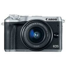 Canon EOS M6 Mirrorless Digital Camera with 15-45mm EF-M IS STM Lens Silver