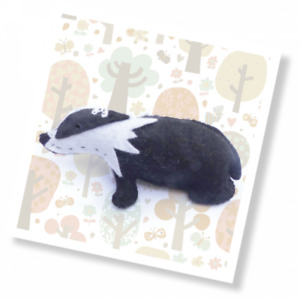 The Crafty Kit Company 'Woodland Chums - Brock The Badger' Mini Sewing Kit