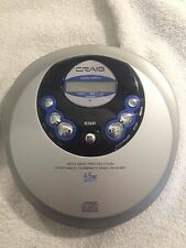 Craig Personal CD Player Tested/Works Except Digital Display Free Ship