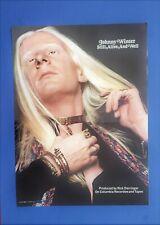 Org 1973 large Johnny Winter Lp Photo Promo Trade Ad