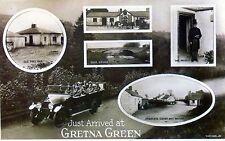 Gretna Green: Just Arrived  at Gretna Green : modern reproduction of older card