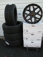 "22"" New Chevrolet Tahoe Gloss Black Milled Wheels 5668 Tires Nexen 2854522"