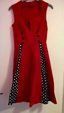 Women's Polka Dot Vintage 1950s Rockabilly Casual Evening Party Swing DRESS Red