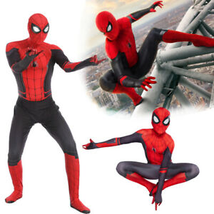 Men Adult Spiderman Costume Far From Home Zentai Cosplay Outfit Party FancyDress