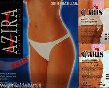 Slip Mutande Culotte Perizoma Donna ARIS e AZIRA Nero Bianco Beige-Pelle C242