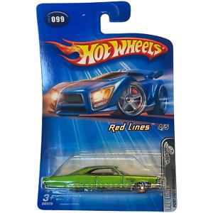 Hot Wheels Red Lines 4/5. #099 Pontiac Bonneville, New! NIP