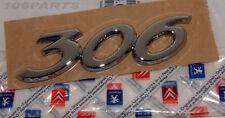 NEW GENUINE PEUGEOT 306 BODY BADGE SILVER 115x30mm 306 XSI GTI-6 1.8 2.0 DIESEL