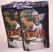 Upper Deck 1995 Michael Jordan 2 Sealed Packs Of Bottle Caps !RARE!