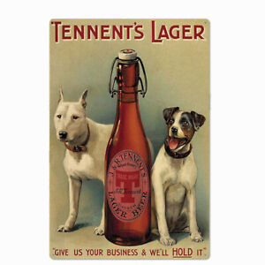 Metal Tin Sign tennent's lager beer for Bar Pub Home Vintage Retro Poster
