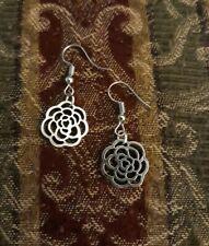 US ROSE EARRINGS Flower Dandelion Love Heart Floral Christmas Gift Silver Dangle
