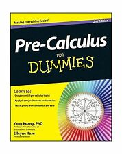 Pre-Calculus For Dummies Free Shipping